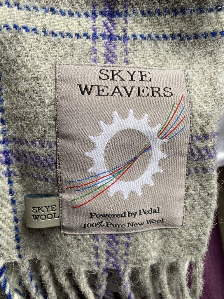 Skye weaver's throw in Rowan Suite Millburn Bed and Breakfast
