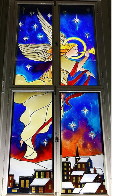 Window Scene as part of Dunvegan Primary's Virtual Advent