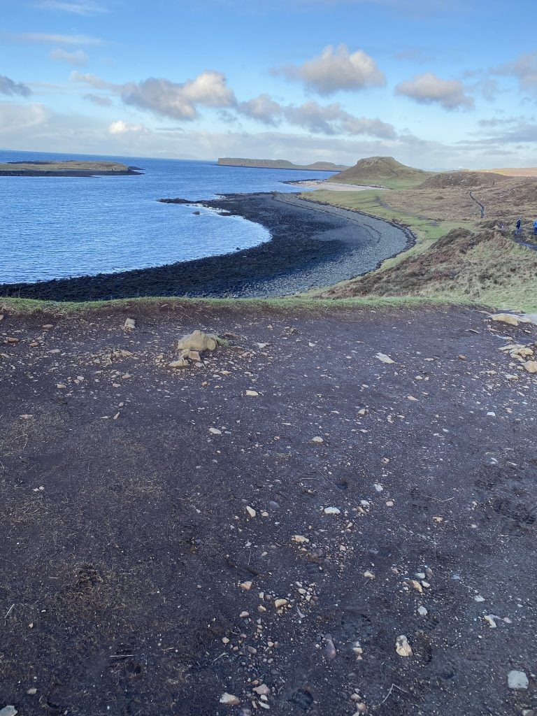 View down over Coral Beach as seen on one of day walks in Skye
