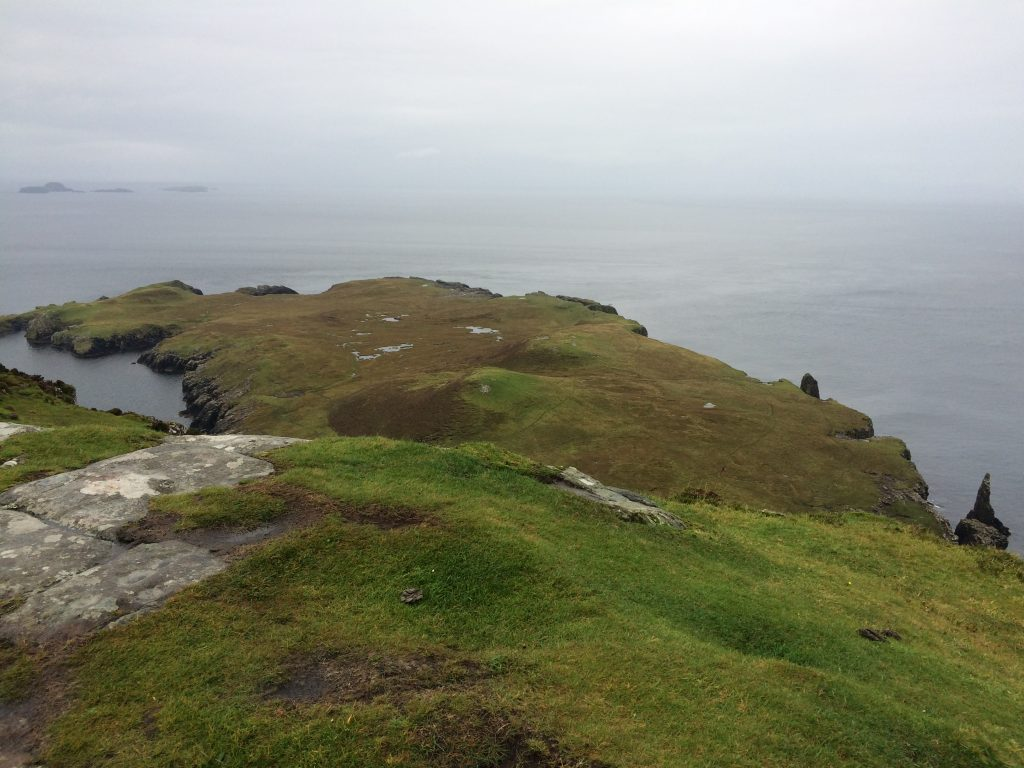 A view down to the headland at Rubha Hunish