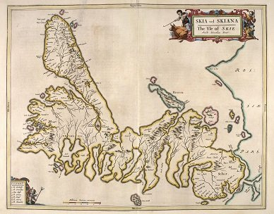 A old map of the Isle of Skye