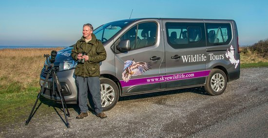 A view of Skye wildlife tours minibus