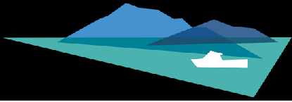 Seaflower Skyes logo a stylised picture of mountains, sea and boat