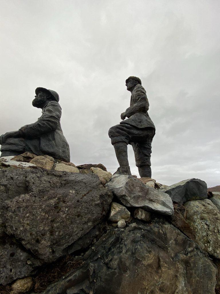Bronze statue of Collie & Mackenzie